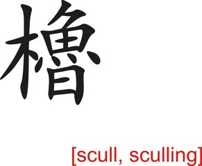 Chinese Sign for scull, sculling