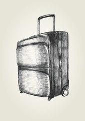 Sketch illustration of a suitcase