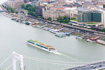 waterfront views of the Danube in Budapest