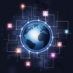 Global Communication Technology Background