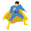 Illustration of a male figure in superhero costume
