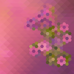 Abstract Mosaic Floral Pattern Background