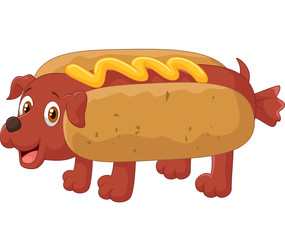 Hot Dog Cartoon Character