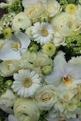 Mixed white wedding flowers