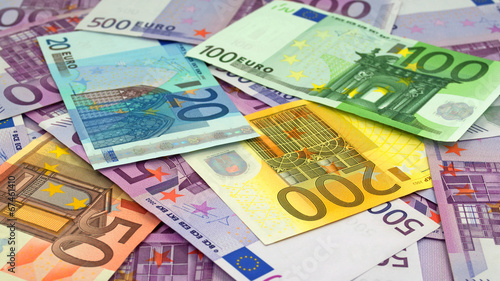 Leinwanddruck Bild Papiergeld