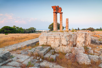 Acropolis of Rhodes at Monte Smith, Greece.