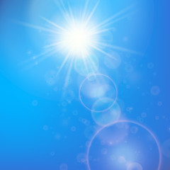 Sun with lens flare template
