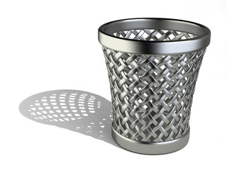 Steel wastepaper basket empty