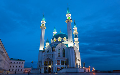 Kazan. Qol Sharif mosque at evening