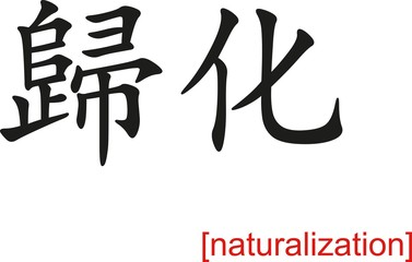 Chinese Sign for naturalization