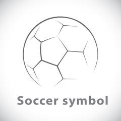 Soccer symbol icon