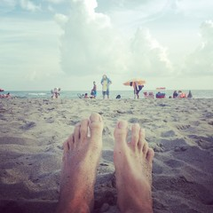 Foot relax on the beach