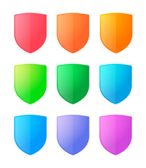 Colored shields icon set