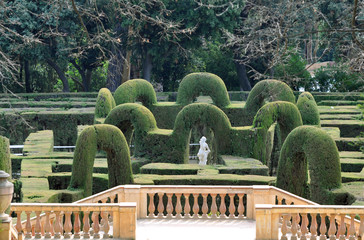 Parc del Laberint d'Horta in Barcelona - Spain