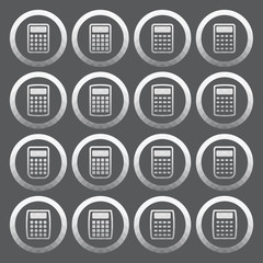 Vector of transparent icon, calculator set
