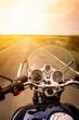 Motorcycle rider view - 67463801