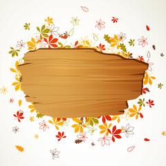 Vector Illustration of an Autumn Background
