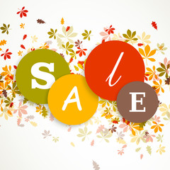 Vector Illustration of an Autumn Sale Design