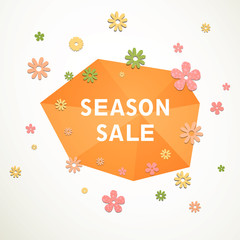 Vector Illustration of a Sale Design