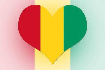 Guinea Flag heart