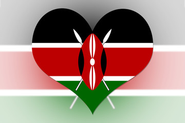 Kenya Flag heart