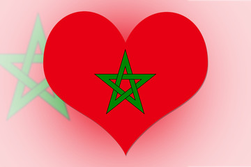 Morocco Flag heart