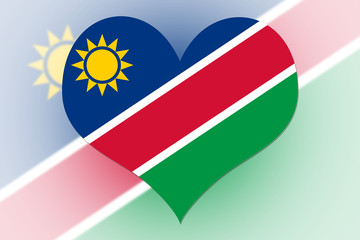 Namibia Flag heart
