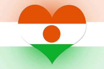 Niger Flag heart