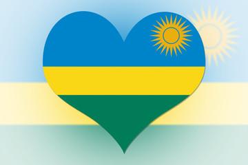 Rwanda Flag heart