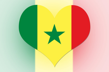 Senegal Flag heart