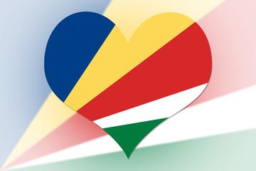 Seychelles Flag heart