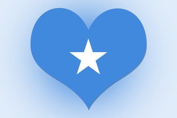 Somalia Flag heart