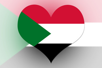 Sudan Flag heart