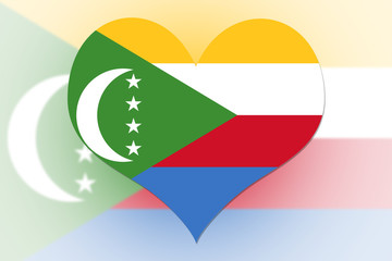 The Comoros Flag heart