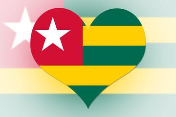 Togo Flag heart