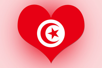 Tunisia Flag heart