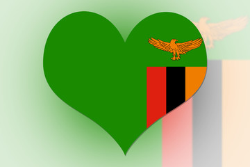 Zambia Flag heart
