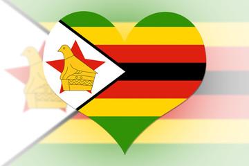 Zimbabwe Flag heart