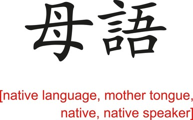 Chinese Sign for native language, mother tongue,native speaker