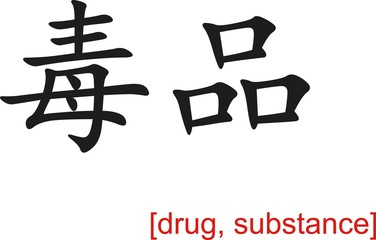 Chinese Sign for drug, substance