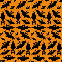 Pattern with bats.