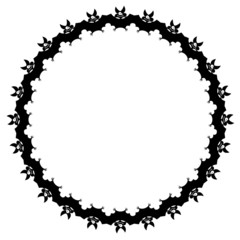 Round frame with bats