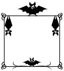 Frame with bats