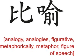 Chinese Sign for analogy, figurative, metaphorically, metaphor