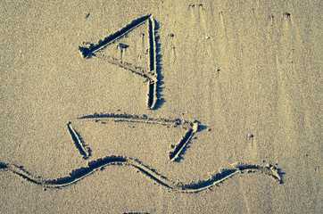 beat at sand