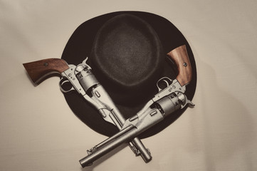 Pistols and Cowboy Hat