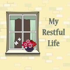 Vector illustration with elements of restful life