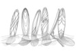 Surfboards in sand sketch - 67466050