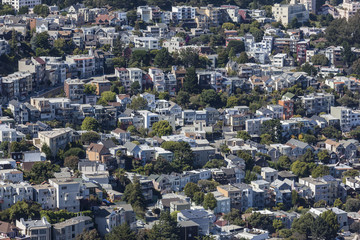 San Francisco Hillside Neighborhood