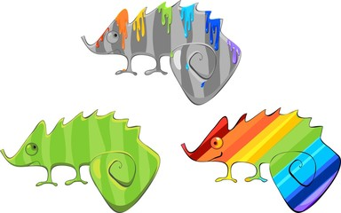 Different chameleons